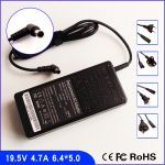 Notebook charger SONY VAIO 19.5V 4.7A 92W (VGN-SZ,S5,S4,S3,N,NR,FZ,FS,FJ,FE,E,CR,C,BX,AX,RFR,GRS)-6.5 X 4.5mm